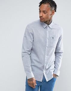 Темно-синяя облегающая рубашка в полоску Original Penguin - Темно-синий