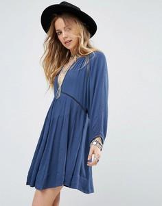 Платье мини Free People - Синий
