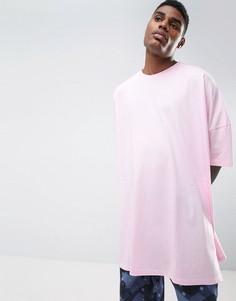 Розовая свободная футболка с укороченными рукавами ASOS - Розовый