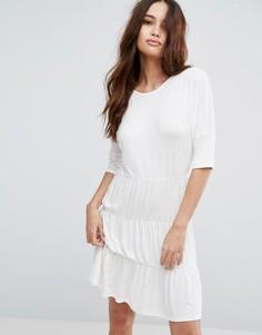 Свободное платье с 3 вставками Boohoo - Белый