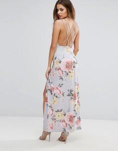 Платье макси с цветочным принтом Boohoo - Мульти