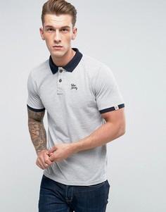 Футболка-поло с контрастным воротником и манжетами Tokyo Laundry - Серый
