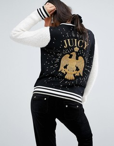 Университетская куртка с орлом Juicy Couture - Черный