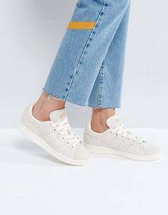 Бежевые замшевые кроссовки adidas Originals Stan Smith - Белый