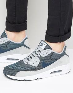 Серые жаккардовые кроссовки Nike Air Max 90 Ultra 898008-400 - Серый