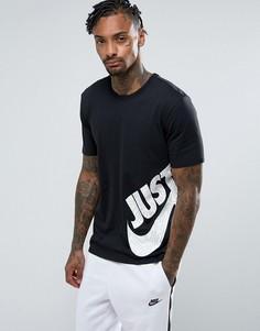 Черная футболка с принтом-галочкой Nike 847633-011 - Черный