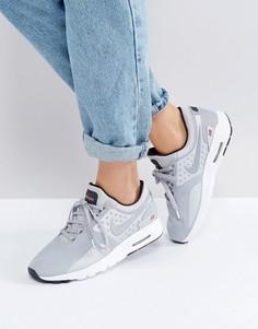 Серебристые кроссовки Nike Air Max Zero - Серебряный