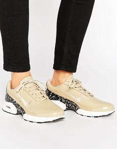 Светло-коричневые кожаные кроссовки со вставкой Nike Air Max Jewell Premium - Мульти