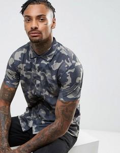 Рубашка с короткими рукавами и камуфляжным принтом Brooklyn Supply Co - Зеленый