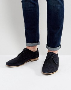 Туфли дерби из темно-синей замши KG By Kurt Geiger - Синий