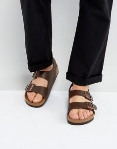 Темно-коричневые сандалии Birkenstocks Milano - Коричневый