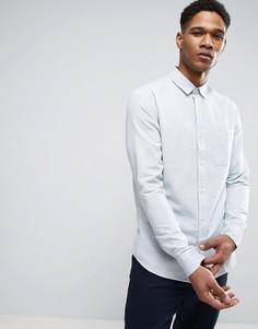 Узкая рубашка из фактурного хлопка Only & Sons - Синий