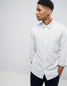 Узкая рубашка из фактурного хлопка Only & Sons - Зеленый
