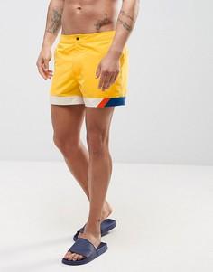 Желтые шорты для плавания со вставками ASOS - Желтый