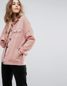 Выбеленная джинсовая куртка Vero Moda - Розовый
