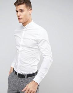 Рубашка классического кроя с контрастным воротником ASOS - Белый