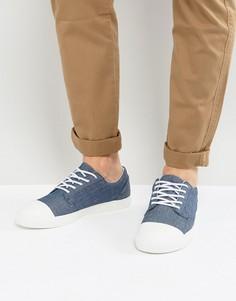 Синие кеды из шамбре на шнуровке ASOS - Синий