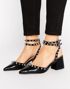 Туфли на среднем каблуке с шипами ASOS SIXTH SENSE - Черный