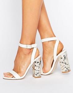 Босоножки на каблуке ASOS HAZARD - Белый