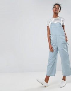 Синий джинсовый комбинезон с завязками ASOS - Синий