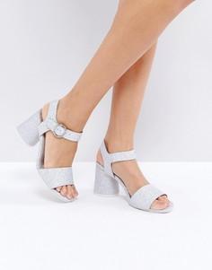 Туфли на среднем каблуке ASOS HOLOGRAM - Серебряный
