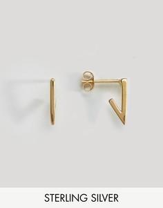 Треугольные серьги из позолоченного серебра ASOS - Золотой