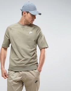 Зеленый свитшот с круглым вырезом и короткими рукавами Nike 933571-230 - Зеленый