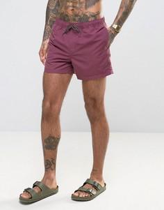 Сливовые шорты для плавания средней длины ASOS - Фиолетовый