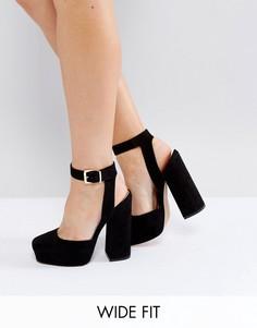 Туфли на платформе для широкой стопы ASOS PINATA - Черный