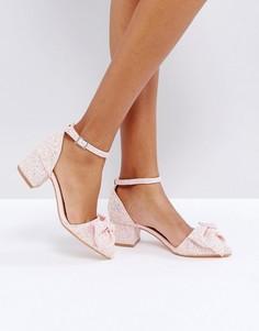 Туфли на среднем каблуке с бантом Truffle - Розовый