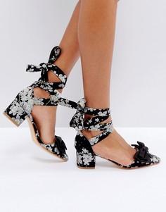 Туфли на среднем каблуке с бантом Truffle - Черный