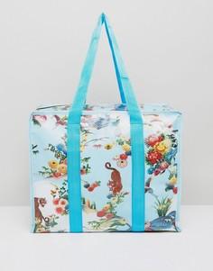 Большая пляжная сумка с цветочным принтом ASOS HERO - Мульти