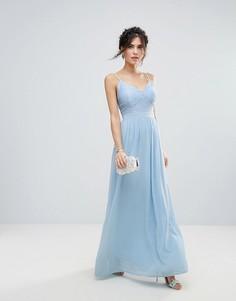 Платье макси с кружевом Club L - Синий