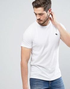 Белая обтягивающая футболка Abercrombie & Fitch Core - Белый