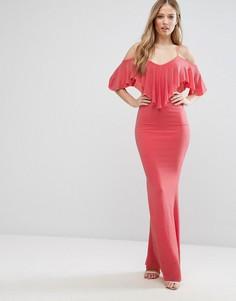 Платье макси с оборками City Goddess - Оранжевый