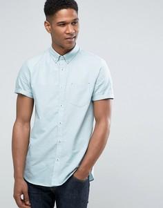 Строгая узкая рубашка добби Burton Menswear - Зеленый