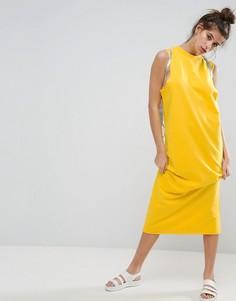 Платье-свитшот макси без рукавов ASOS - Желтый