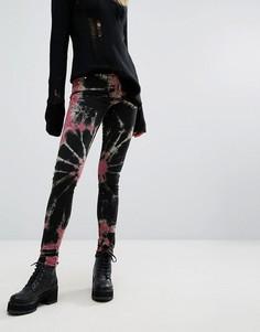 Зауженные джинсы с принтом Tripp NYC - Черный