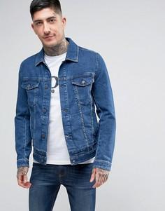Синяя джинсовая куртка BOSS Orange by Hugo Boss Orange 1 - Синий