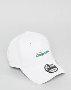 Регулируемая бейсболка New Era 9Forty Miami Dolphins - Белый