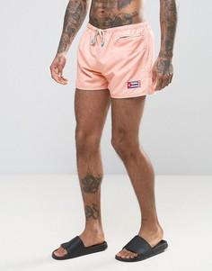 Персиковые шорты для плавания Oiler & Boiler East Hampton Shortie - Розовый