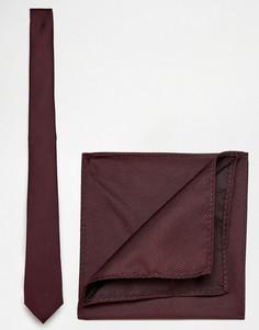 Галстук и платок для пиджака ASOS Burgundy - Красный