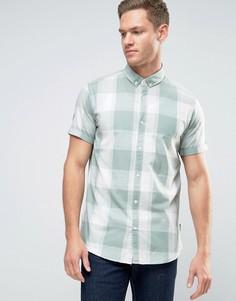 Рубашка в клетку с короткими рукавами Jack & Jones Originals - Зеленый