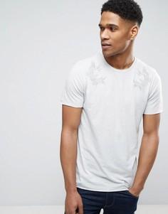 Удлиненная футболка с вышивкой Jack & Jones Originals - Серый