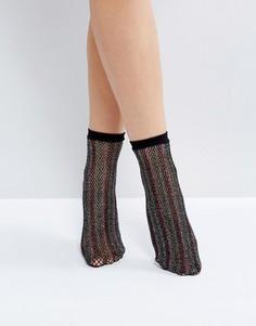 Блестящие сетчатые носки ASOS - Мульти