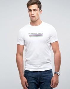 Белая облегающая футболка в полоску PS by Paul Smith - Белый