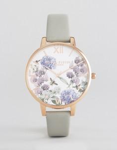 Часы с кожаным ремешком Olivia Burton Parlour - Серый