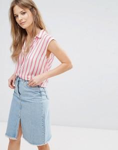 Рубашка в полоску с затягивающимся шнурком New Look - Белый