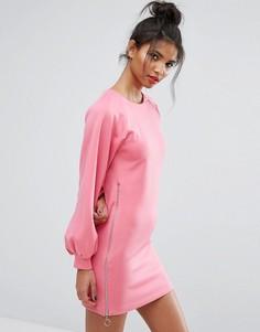 Трикотажное платье мини ASOS - Розовый