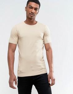 Облегающая футболка Only & Sons - Бежевый